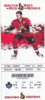 2015 Ottawa Senators ticket stub vs Maple Leafs