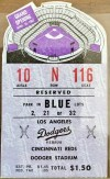 1962 Dodger Stadium Opening Day ticket stub