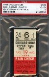 1969 Ken Holtzman No Hitter ticket stub