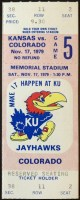 1979 NCAAF Kansas Jayhawks ticket stub vs Colorado