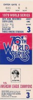 1979 World Series ticket stubs Games 3 and 5