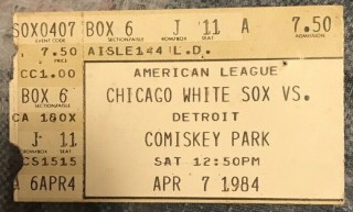 1984 Jack Morris No Hitter ticket stub