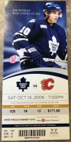 2006 Mats Sundin 500th Goal Ticket Stub