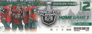 2014 Minnesota Wild playoffs ticket stub vs Blackhawks