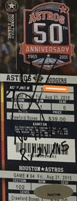 2015 Mike Fiers 1st No Hitter ticket stub