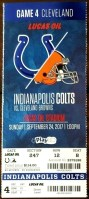 2017 Indianapolis Colts ticket stub vs Browns