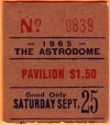 1965 Houston Astros ticket stub vs Reds