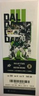2019 Dallas Stars Opening Night ticket stub vs Bruins