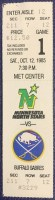 1985 Minnesota North Stars ticket stub vs Sabres