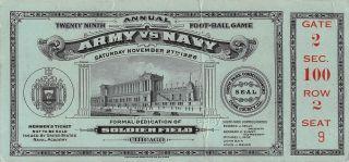 1926 NCAAF Army vs Navy ticket stub