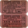 1949 Negro League ticket stub Richmond Lynchburg Giants