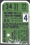1958 Baltimore Colts ticket stub vs Packers