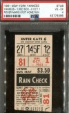 1961 Roger Maris Home Run 61 ticket stub