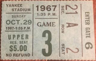 1967 New York Giants ticket stub vs Cleveland Browns Yankee Stadium 25