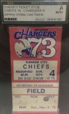 1973 Johnny Unitas Final Game Ticket Stub