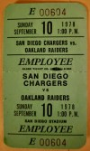 1978 Holy Roller Game Ticket Stub