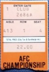 1982 AFC Championship ticket stub Chargers Bengals