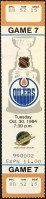 1984 Edmonton Oilers full ticket vs Vancouver