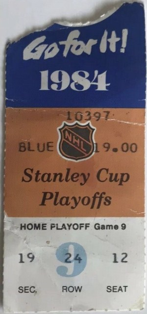 1984 Stanley Cup Final Game 3 ticket stub Oilers vs Islanders 15.50