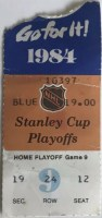 1984 Stanley Cup Final Game 3 ticket stub Oilers vs Islanders