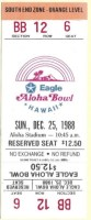 1988 Aloha Bowl ticket stub Washington State vs Houston