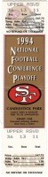 1995 NFC Championship Game full ticket 49ers vs Cowboys