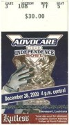 2009 Independence Bowl ticket stub Texas A and M vs Georgia