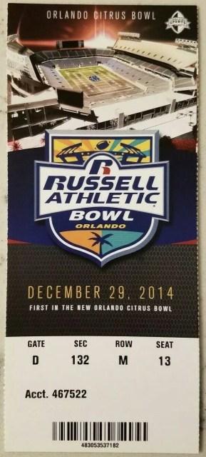 2014 Citrus Bowl ticket stub Clemson vs Oklahoma 4