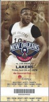 2016 New Orleans Pelicans ticket stub vs Lakers