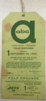 1963 New York Jets ABC press pass Polo Grounds
