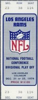1974 NFC Divisional Game ticket stub Rams Redskins