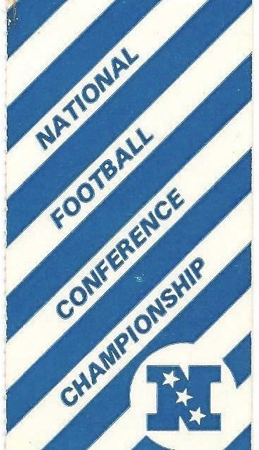 1980 NFC Championship Game ticket stub Eagles Cowboys