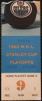 1983 Dave Semenko First Playoff Goal Ticket Stub
