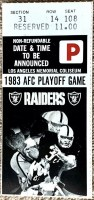 1984 AFC Divisional Game ticket stub Raiders Steelers