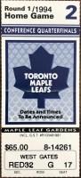 1994 NHL Playoffs Game 2 ticket stub Blackhawks Maple Leafs