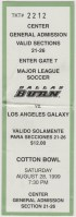1999 MLS Dallas Burn ticket stub LA Galaxy
