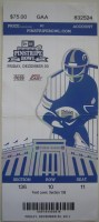 2011 Pinstripe Bowl Ticket Stub Rutgers vs Iowa State
