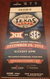 2014 Texas Bowl Ticket Stub Texas vs Arkansas