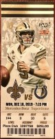 2019 Drew Brees 540 TD Passes Ticket Saints vs Colts
