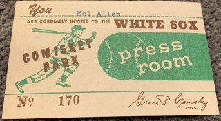 1951 Mel Allen's Personal Pass To Mickey Mantle's 1st HR