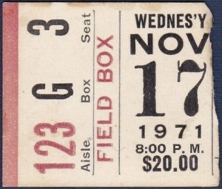 1971 Boxing Muhammad Ali vs Buster Mathis ticket stub 300