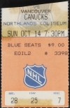 1979 Wayne Gretzky First NHL Goal Ticket Stub