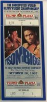 1987 Boxing ticket stub Mike Tyson vs Tyrell Biggs