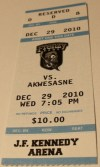 2010 FHL Rome Frenzy ticket stub vs Akwesasne Warriors
