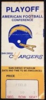 1979 AFC Chargers Playoff ticket stub vs Houston