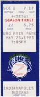 1993 New Orleans Zephyrs ticket stub vs Indianapolis