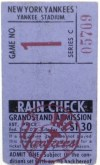 1961 New York Yankees Opening Day ticket stub vs Minnesota