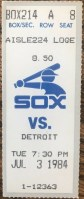 1984 Tom Seaver 280th career victory ticket stub