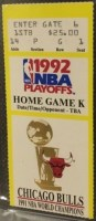 1992 Michael Jordan Shoulder Shrug Game ticket stub