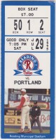 1995 Reading Phillies ticket stub  vs Portland
